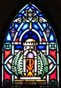 Palm Sunday Stained Glass